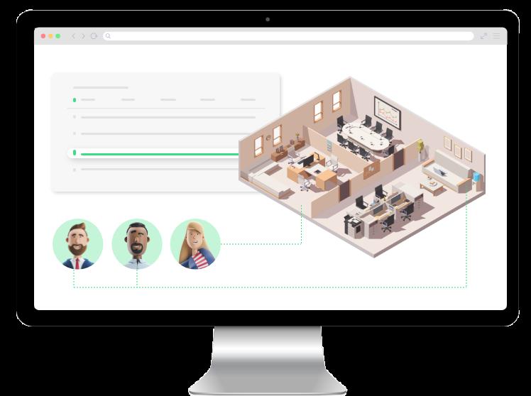 Simulieren Sie mit unserer Planungssoftware die Gestaltung Ihres Workspace