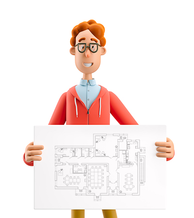Übernhmen Sie Ihre originalen Gebäudepläne in die App